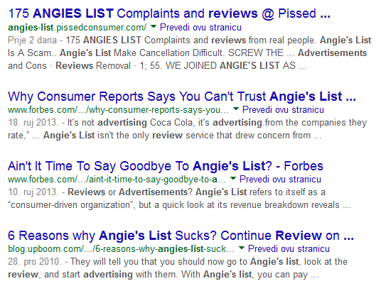 Angie's List Advertising Reviews