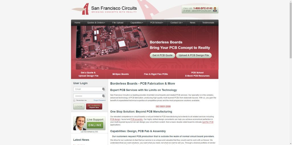 website case study | San Francisco Circuits | Motava