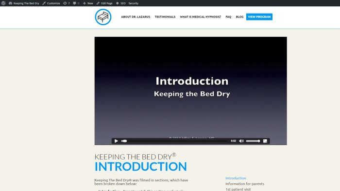 keeping-the-bed-dry-video