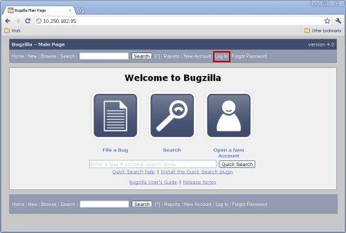 Bugzilla-app-login